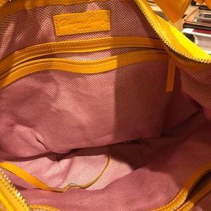 Dooney & Bourke Bags - Dooney & Bourke Mustard Yellow Patent Leather Hobo